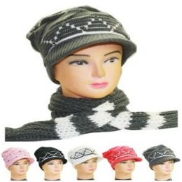 36 of Woman Winter Hat 2 Pc Set