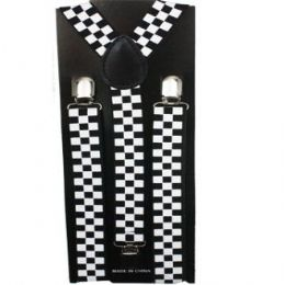 48 of Checkered Suspender In Black And White