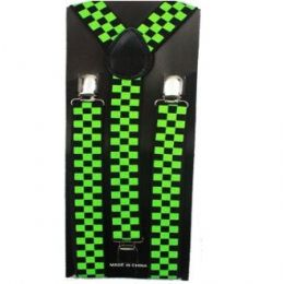 48 of Checkered Black And Green Suspender