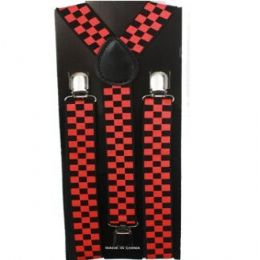 48 of Checkered Black And Red Suspender