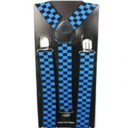 48 of Checkered Blue And Blue Suspender