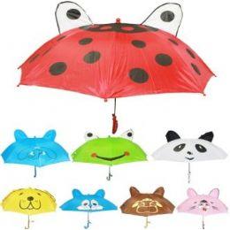 36 of Children's Animal Printed Umbrellas