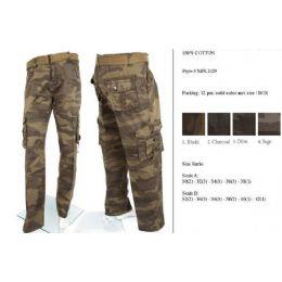 12 of Men's Fashion Cargo Camouflage Pants 100% Cotton