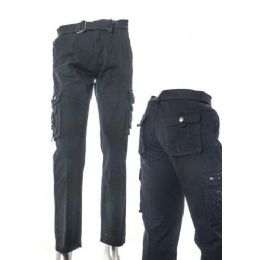 12 of Men's Fashion Cargo Pants 100% Cotton Size B Scale Chart Only