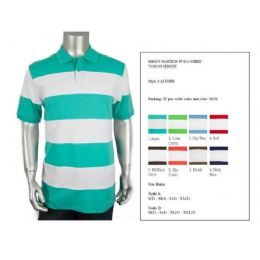 48 of Men's Cut & Saw Polo Shirt Size Chart B Only