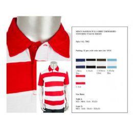 24 of Mens Fashion Polo Shirts Unfinished Stitching Jersey