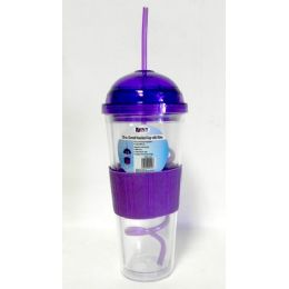 12 of Wholesale 20 Oz Domed Insulated Cup With Straw Eco Friendly Bpa Free