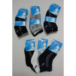 60 of 3pr Boys Quarter Socks 1-2y [three Colors]
