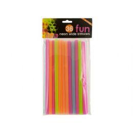 72 of 36 Piece 9 Inch Neon Wide Straws