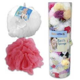 144 of 45 Gram Bath Sponge In Freestanding Floor Display