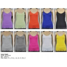 144 of Ladies Lace Assorted Color Tank Top