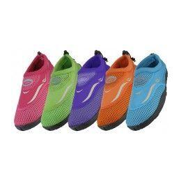 36 of Girl's Aqua Socks Assorted Colors