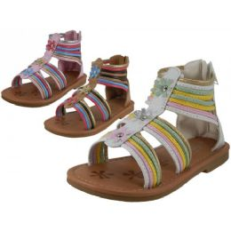 36 of Girl's Gladiator With Back Zipper Sandals