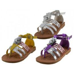 24 of Girl's 3d Rose Sandals
