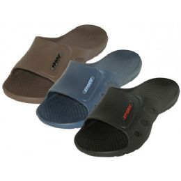 36 of Men's Sport Slide Sandals ( *Asst. Black, Navy & Brown )