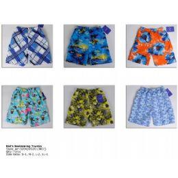 72 of Printed Boy's Swim Trunks