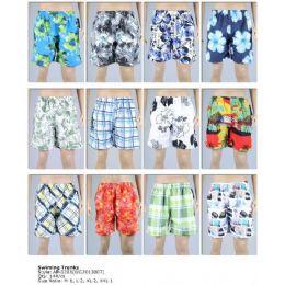 144 of Printed Men's Swim Trunks