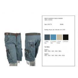 24 of Mens Fashion Cargo Shorts 100% Cotton