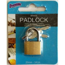 144 of 20mm Brass Luggage Lock
