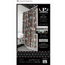 12 of Brown Circles Deluxe Shower Curtain
