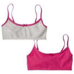 72 of 2 Pack Hanes Girls Sports Bra On Hanger