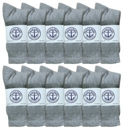 120 of Yacht & Smith Junior Boys Cotton Crew Socks Gray Size 9-11