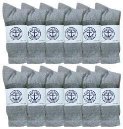 120 of Yacht & Smith Junior Boys Cotton Crew Socks Gray Size 9-11