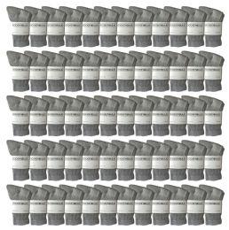 120 of Yacht & Smith Kids Cotton Crew Socks Gray Size 6-8