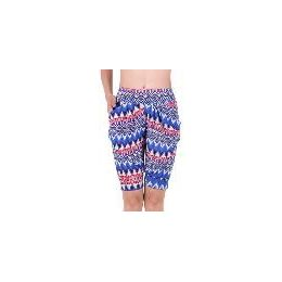 72 of Women's Aztec Printed Bermuda With Two Pockets