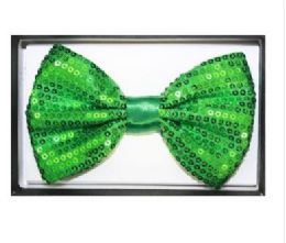 48 of Green Sequined Bow Tie 025