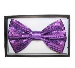 48 of Purple Sequined Bow Tie 018