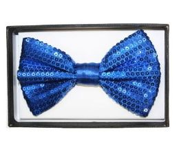 48 of Blue Sequin Bow Tie 028