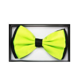 48 of Two Tone Lime Green Bow Tie 034