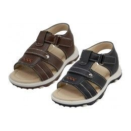 24 of Boy's Velcro Strap Sandals
