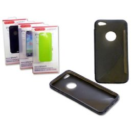 "144 of Iphone 5 Tpu Cover 2.4"" X5"" Black,blue,green,pink Clr"