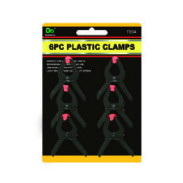 144 of 6pc Plastic Spring Clamps 2 Inches
