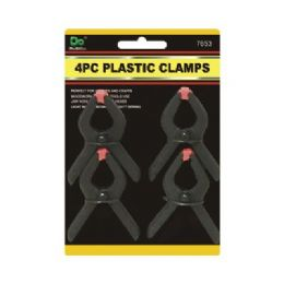 144 of 4pc Plastic Spring Clamps 3 Inches