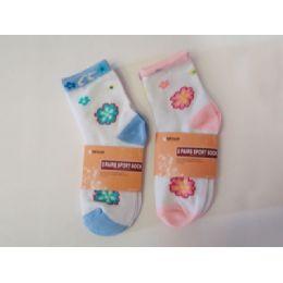 288 of Sock Girl 2pk/set W/print 2ass