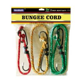 "48 of 3pc Bungee Cords 12"",18"",24"""