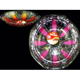 48 of Round Crystal Bowl W/paint