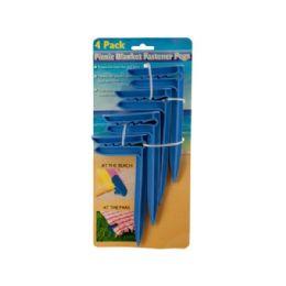 36 of Wholesale 4 Pack Picnic Blank Fastener Pegs