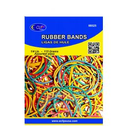 72 of Rubber Bands, 1/4lbs, Assorted Sizes & Assorted Colors (3 Inners Of 24)