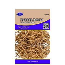 60 of Rubber Bands, 1/2lbs, Assorted Sizes, Natural Color (3 Inners Of 20)