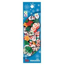 96 of 35-Ct Christmas Mini Eraser Pack