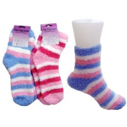 144 of Striped Fuzzy Sock