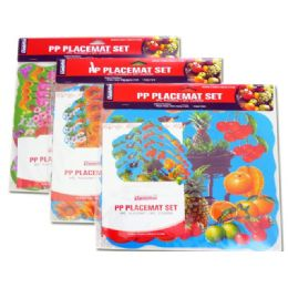 72 of Placemat Fruit+flo 4+411.5x11.5""