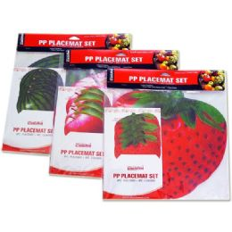 72 of Placemat Fruit 4+411.5x11.5""