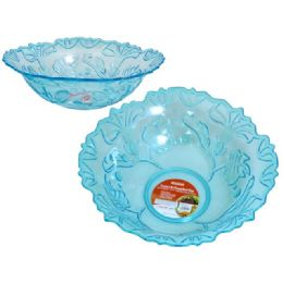 48 of Crystal Like Round Bowl Blue