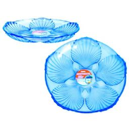 48 of Crystal Like Round Tray Blue