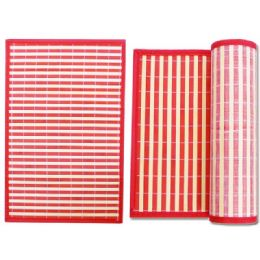 "96 of Placemat Bamboo 17.7x11.8""upc. Red"